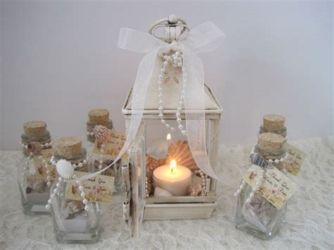 Beach themed wedding or shower lantern centerpieces