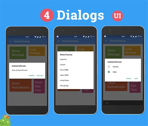 free text templates for android android ultimate ui features template materialup