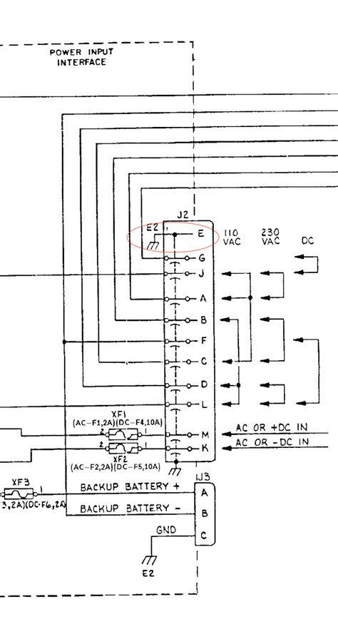 a box with dashed lines in a wiring diagram
