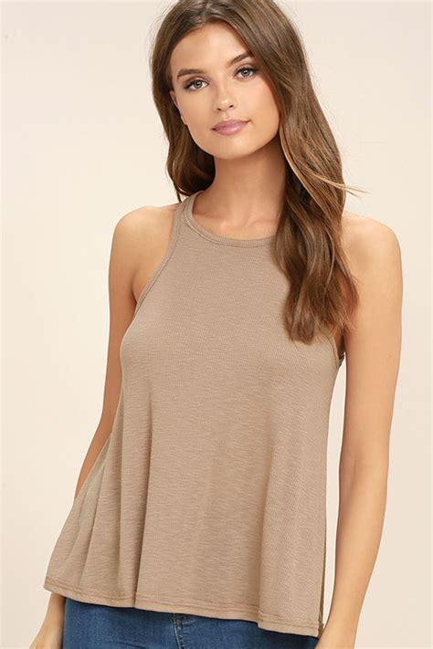 light brown tops for women free people long beach light brown top tank top
