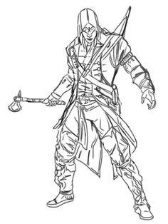 assassins creed 4 coloring pages | assassin creed ezio