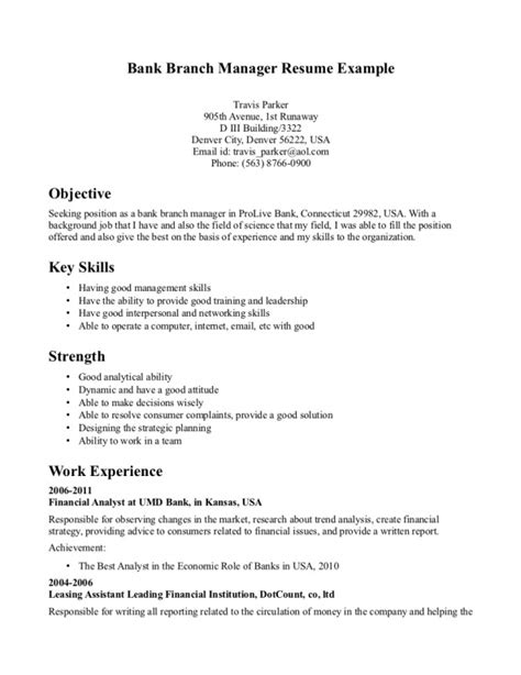 banking objective for resume resume ideas