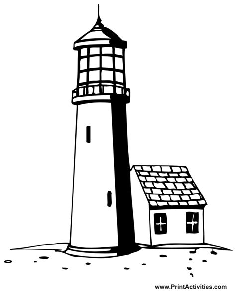 free printable lighthouse lighthouse coloring pages to download and print for free