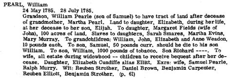 Fauquier County Marriage Records William Elliott And Elizabeth Pearl