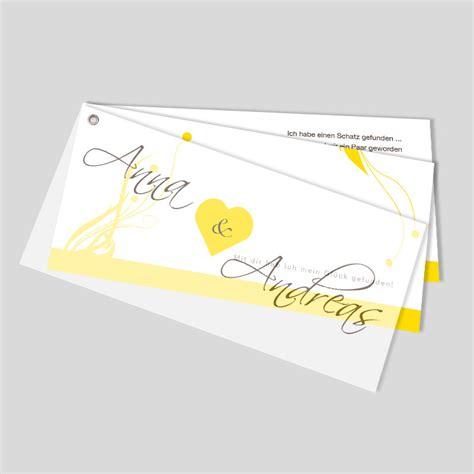 Einladungskarten Hochzeit Gelb by F 228 Cher Hochzeitseinladung Herzen