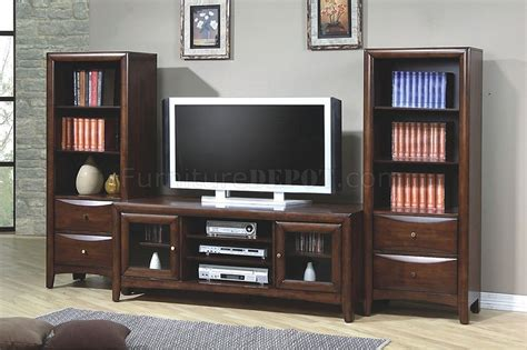 Home Design Outlet Center Virginia dark walnut finish stylish entertainment unit w optional