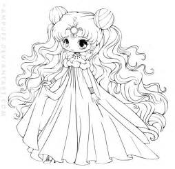 Nehelenia Chibi Lineart Commish By Yampuff On Deviantart Chibi Princess Coloring Pages