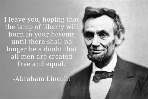 abraham lincoln equality there s nobody that s done so much for equality as