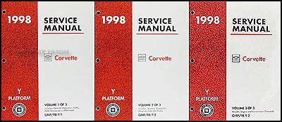 auto manual repair 1998 chevrolet corvette electronic toll collection 1998 chevrolet corvette repair shop manual original 3 volume set