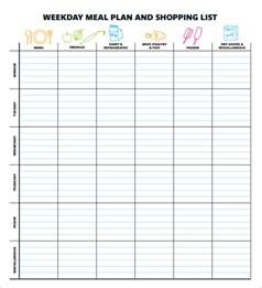 Menu Planner Template Excel by Sle Meal Planning Template 15 Free Documents