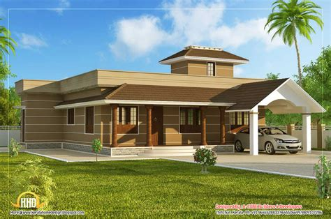 single houses single floor home design 1395 sq ft kerala home