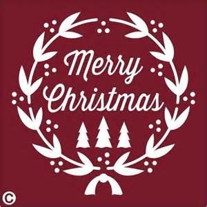 primitive stencil merry christmas wreath laurel