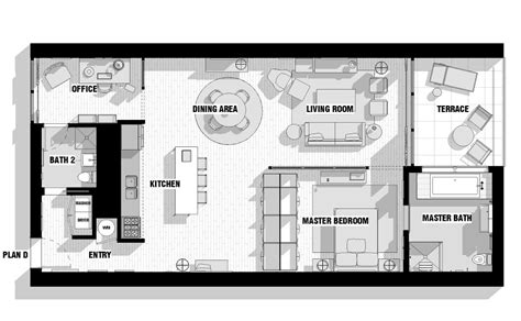 Modern Loft Floor Plans | city loft floor plan olpos design