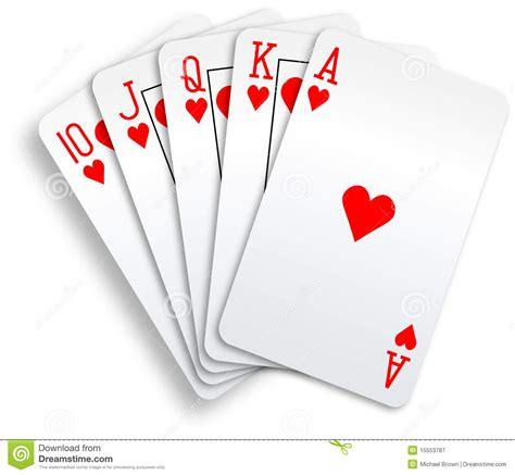 Royal Flush Poker Hand Clipart