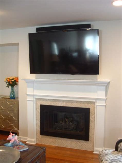 Tv Above Wood Burning Fireplace by Tv Fireplace With Metal Studs Doityourself