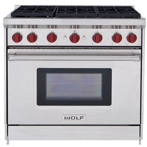 wolf gas range wolf gr366x 36 inch pro style gas range with 6 dual stacked sealed burners 5 5 cu ft