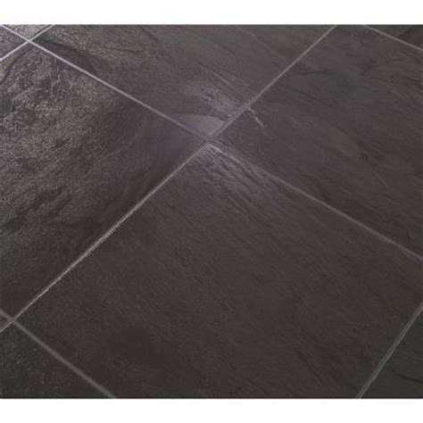 Laminate Slate Flooring Dupont Black Slate 8 Mm Thick X 11 54 In Wide X 46 28 In Length Laminate Flooring 18 55 Sq