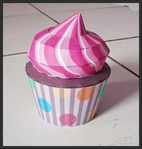 Paper Cupcake Craft - papercraftsquare new paper craft strawberry cupcake