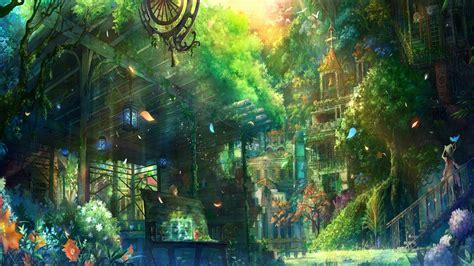 anime village wallpaper beautiful landscape full hd wallpaper and hintergrund