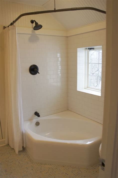 corner tub bathroom ideas corner tub corner tub with shower curtain round the