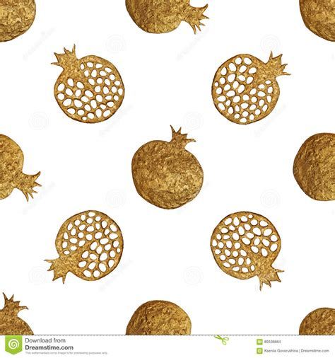 gold pattern paint gold abstract pomegranate pattern hand painted seamless