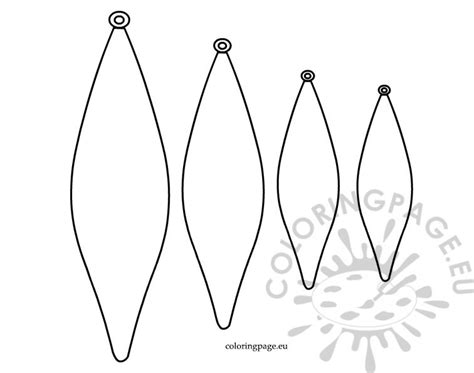 Pointed Baubles Template Coloring Page Baubles Templates To Colour
