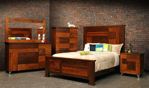 Bedroom Furniture Unique Unique Wood Bedroom Furniture Set Featuring Masculine King