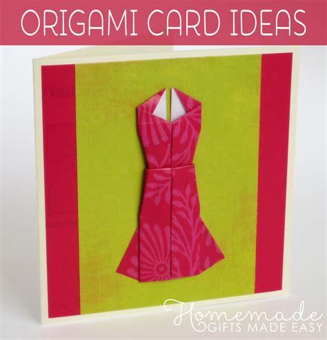 homemade origami card   cute dress design