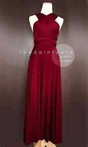 Convertible Infinity Bridesmaid Wrap Dress Maxi Wine Bridesmaid Dress Prom Dress Wedding Dress