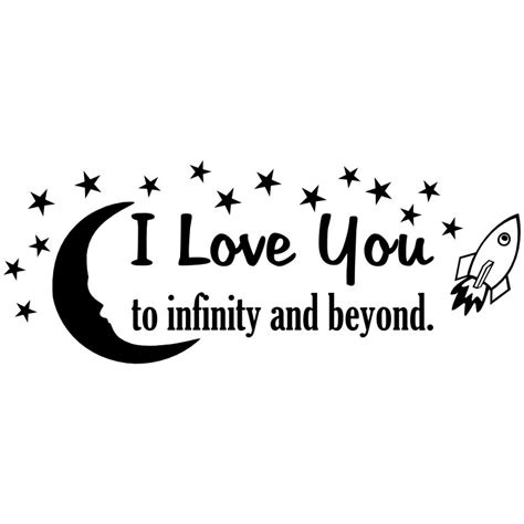 i you to infinity and beyond books i you to infinity and beyond vinyl wall quote by