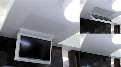 supporto da soffitto per tv tv moving mfcl supporto tv motorizzato da soffitto per