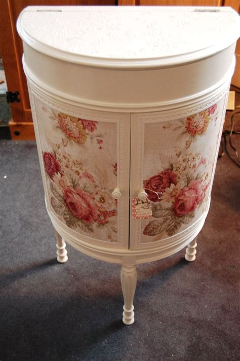 Decoupage Fabric On Wood Furniture - 156 best furniture decoupage images on