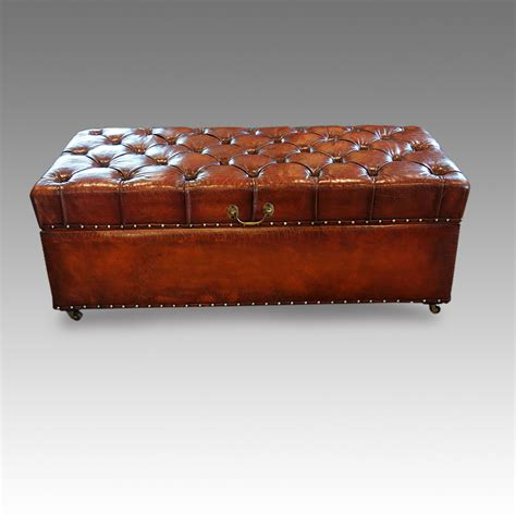 leather ottoman uk edwardian leather ottoman hingstons antiques dealers