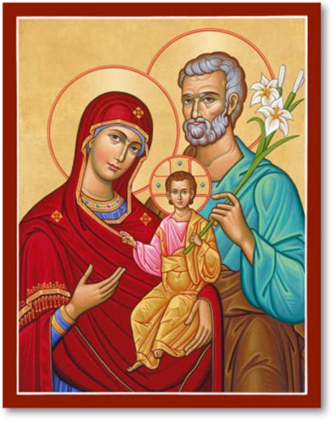 icons of christ: holy family, portrait style icon