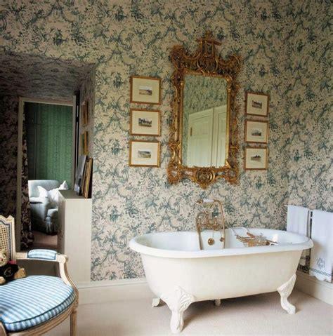 Bathroom Wallpaper Vintage Vintage Bathroom Wallpaper Wallmaya