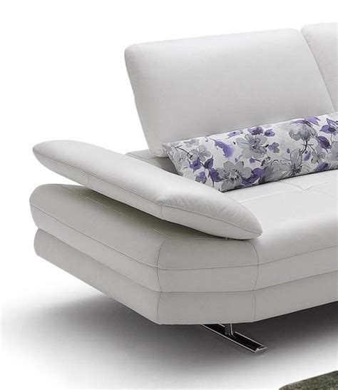 952 modern white italian leather sectional sofa