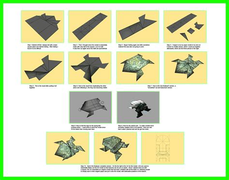 Origami Process - process of a 3d origami frog by mastaazumarek on deviantart