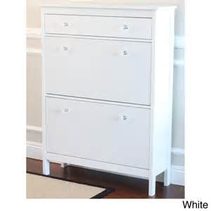 Shoe Storage With Drawers by Shoe Cabinet With Storage Drawer