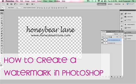adobe photoshop watermark tutorial how to make a watermark in photoshop honeybear lane