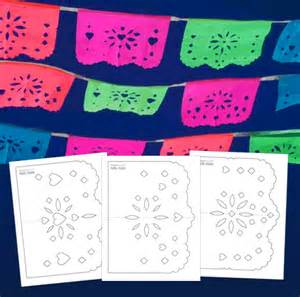 papel picado template for easy diy papel picado templates printable crafts for day