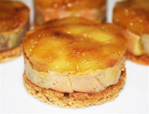 Recette Foie Gras by La Cuisine De Bernard Mini Quot Tatins Quot De Foie Gras