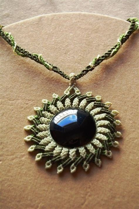 cavandoli macrame statement necklace mandala with by