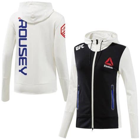 Jaket Hoodie Zipper Ufc Ronda Rousey Reebok buy reebok polo shirts mens blue gt off58 discounted
