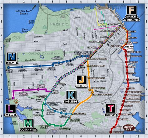 san francisco muni map caltrain vs bart vs muni hotels near bart