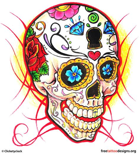 sugar skulls tattoo designs skull tattoos grim reaper tattoos deer sugar bull