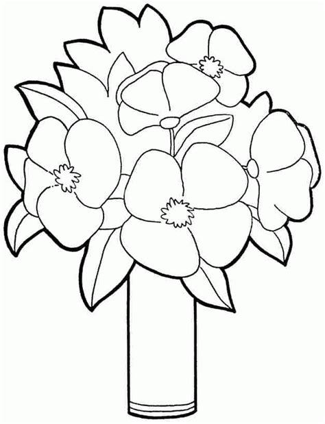 plants coloring pages preschool preschool flowers coloring pages