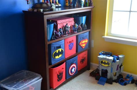 superman boys room nursery theme target canvas bins with diy felt symbols superman batman