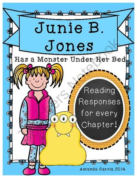junie b jones has a monster under her bed junie b jones has a monster under her bed complete unit