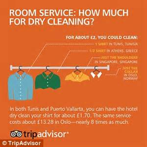 how much does it cost to dry clean a comforter infographic reveals room service costs from around the world daily mail online