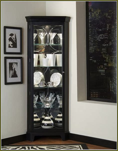 black china cabinet with glass doors corner china cabinet display home design ideas